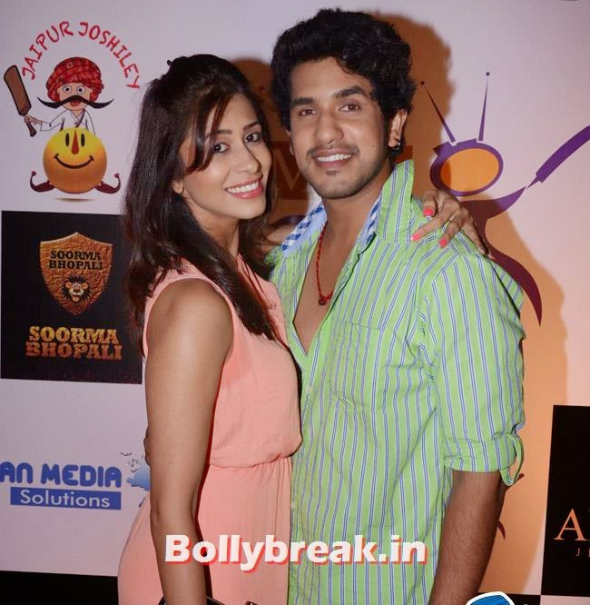 Kishwer Merchant with Suyash Kumar, Box Cricket League Success Party - Tv Babes as Guests