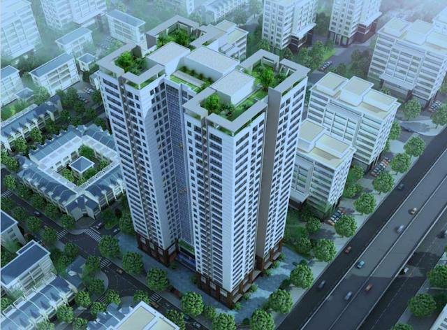Phối cảnh dự án Housinco Grand Tower