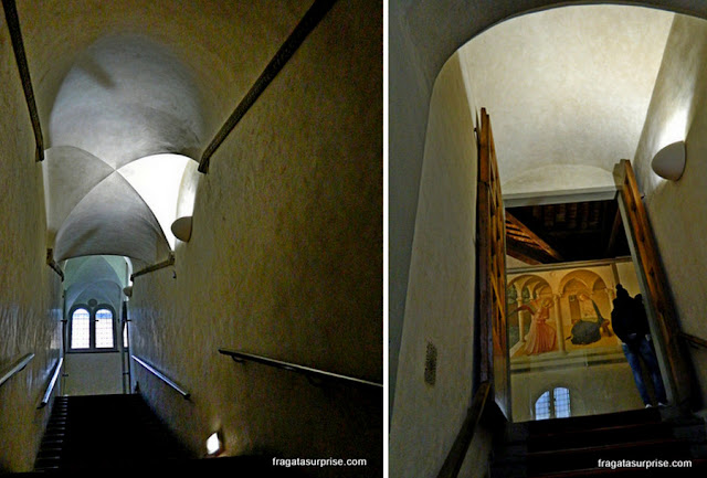 Acesso ao dormitório dos monges no Mosteiro de San Marco, em Florença