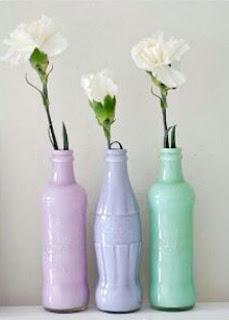 Cara Membuat Kerajinan Tangan Yang Mudah, Vas Dari Botol Bekas 7