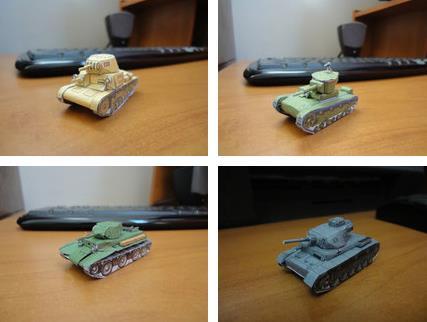 PAPERMAU: Six WW2 Miniature Tanks Paper Models - by Mario