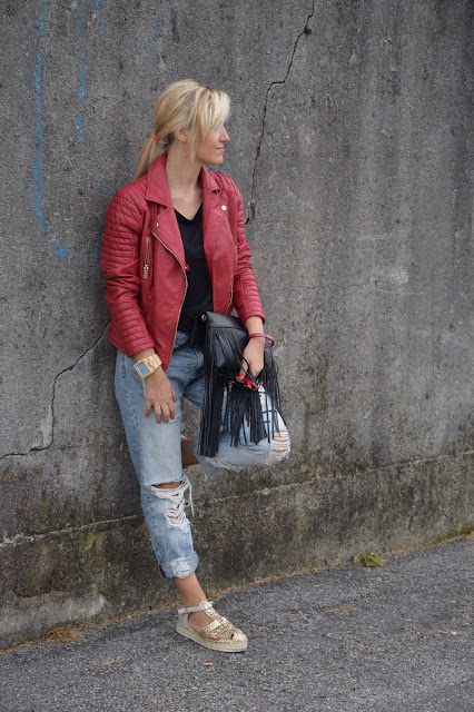 outfit jeans boyfriend come abbinare i jeans boyfriend abbinamenti jeans boyfriend outfit settembre 2016 outfit autunnali mariafelicia magno fashion blogger colorblock by felym web influencer italiani blogger italiane di moda fashion blogger italiane