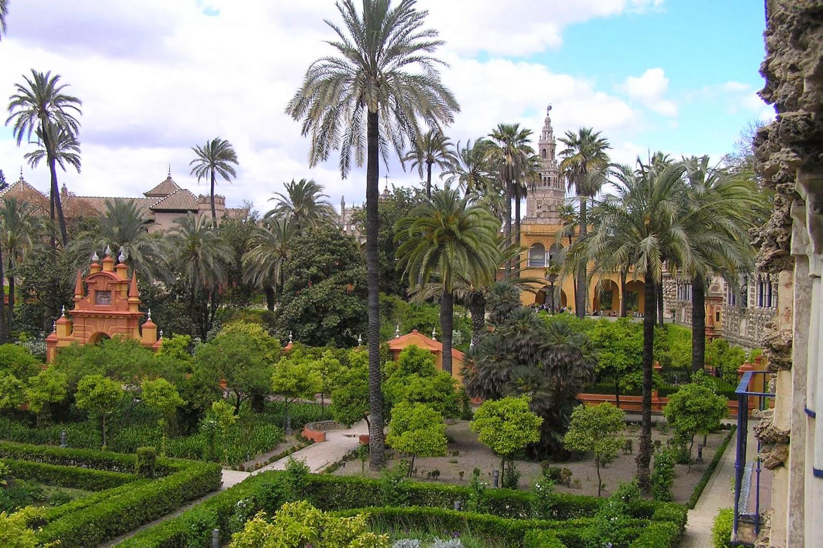 Jardines del Alcázar de Sevilla.