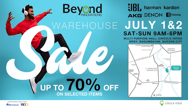 Up to 70% OFF on Audio Gadgets at Beyond Innovatios Warehouse Sale