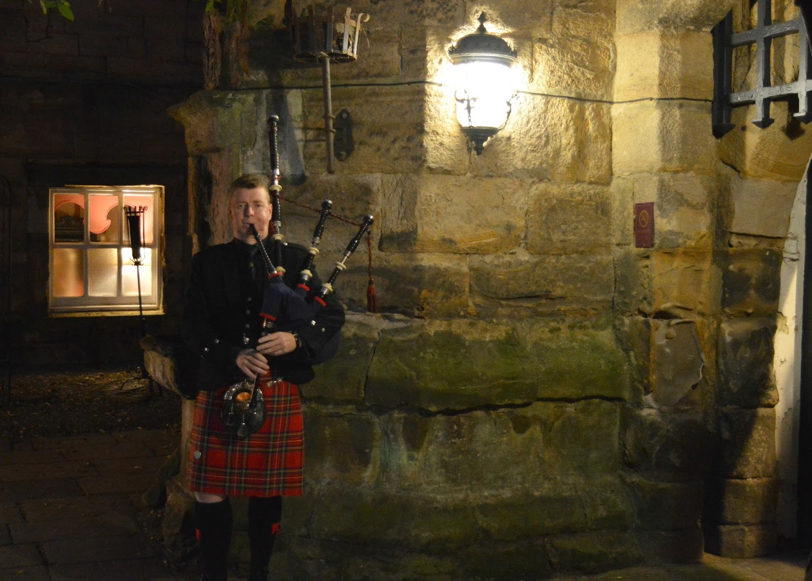 Elizabethan Banquet at Lumley Castle - Bagpipes