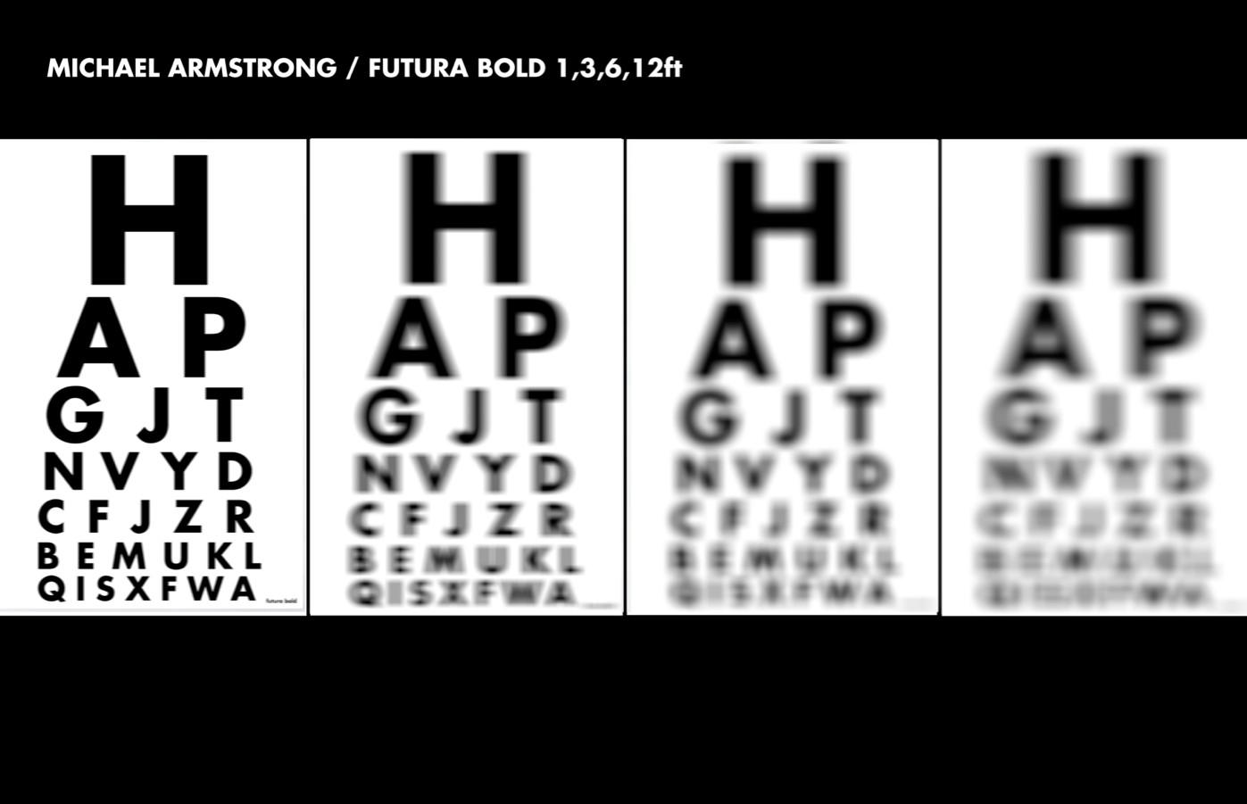 Michael Armstrong: Helvetica Bold vs Futura Bold Research