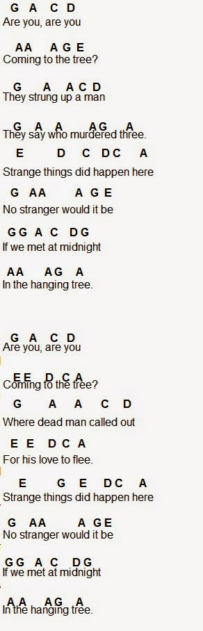 Flute sheet music the hanging tree click for details sheet