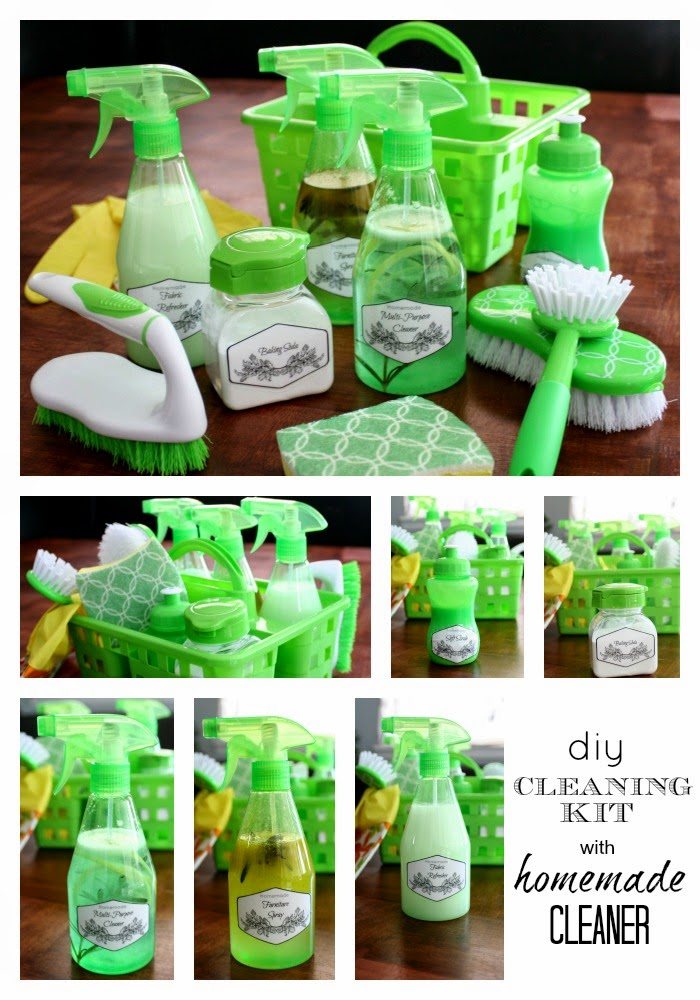 Make a super affordable and effective DIY cleaning kit with these easy to follow cleaning recipes.