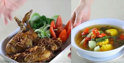 Resep Ayam Goreng Kalasan + Sayur Asem Gurih Segaaarr..!