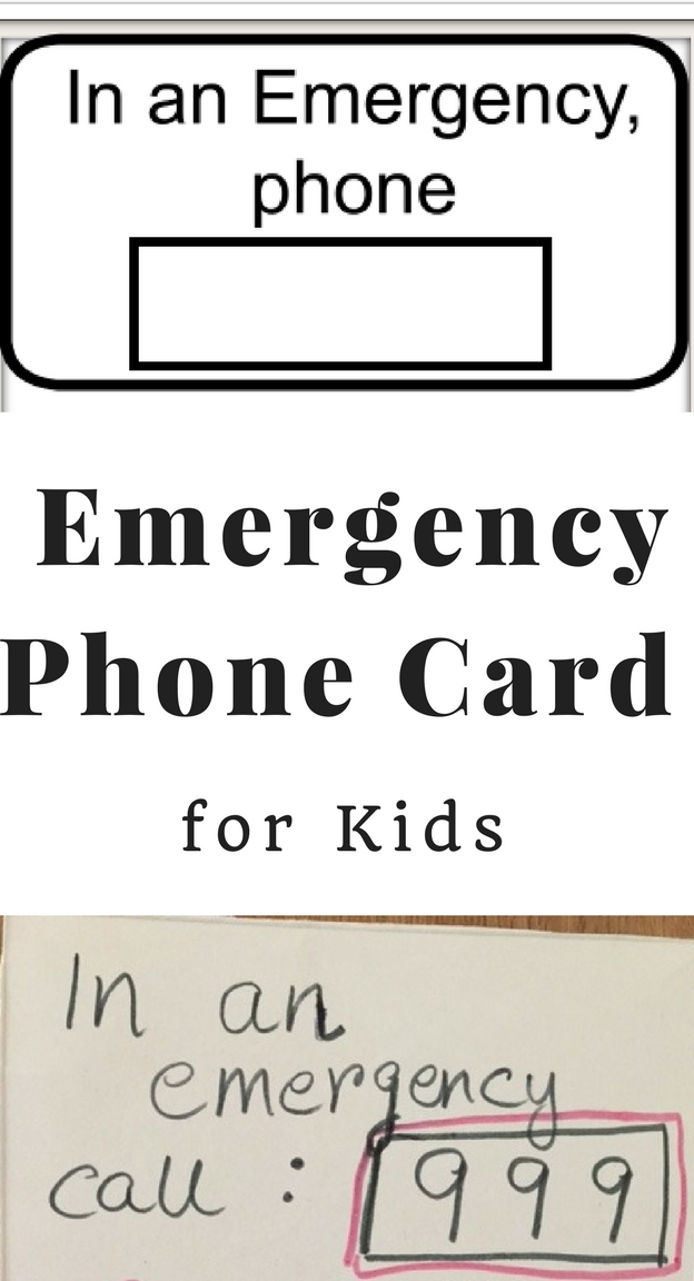 Emergency Phone Card for Kids