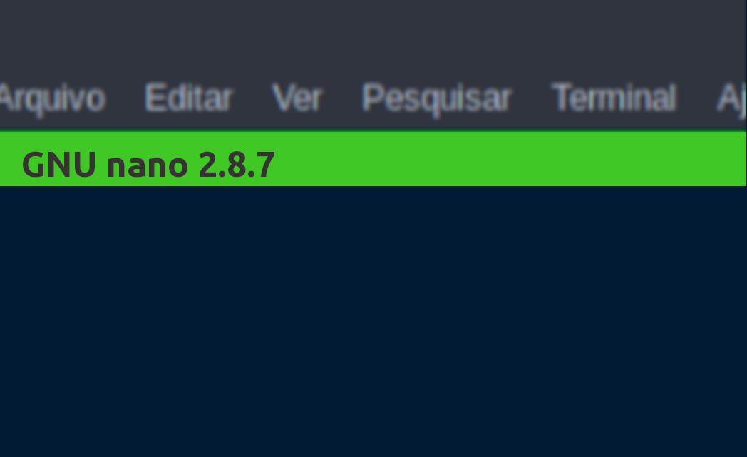 Compilando o Nano Editor