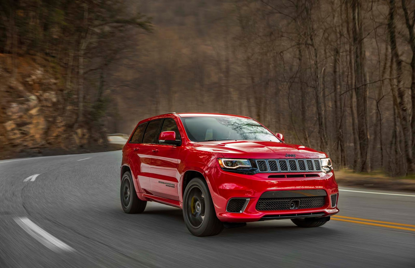 2018 jeep grand cherokee trackhawk is a 707 hp all wheel drive brute. Black Bedroom Furniture Sets. Home Design Ideas