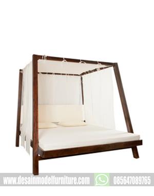 Dipan kanopi minimalis kayu jati paling berkulitas