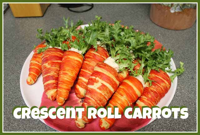 Crescent Roll Carrots Filled With Egg Salad For Easter Brunch Or Lunch