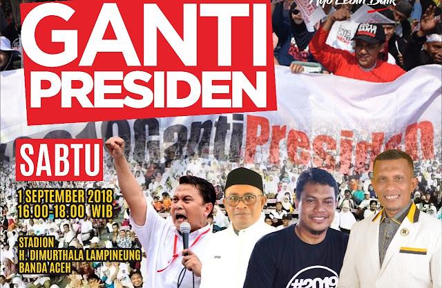 Deklarasi #2019gantipresiden di Aceh Bakal Dihadiri Ribuan Massa