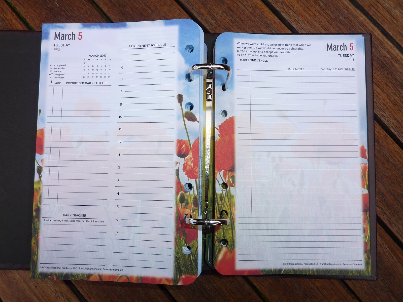 Plannerisms Franklin Covey Two Pages Per Day Inserts In My Filofax