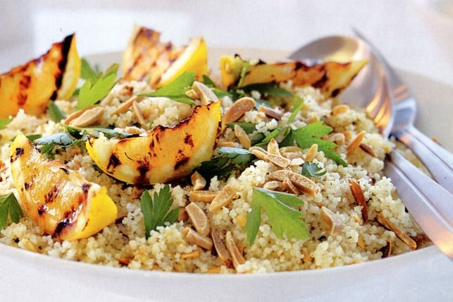 Turn a few basic fridge and pantry items into this tasty Almond and pistachio dukkah couscous recipe