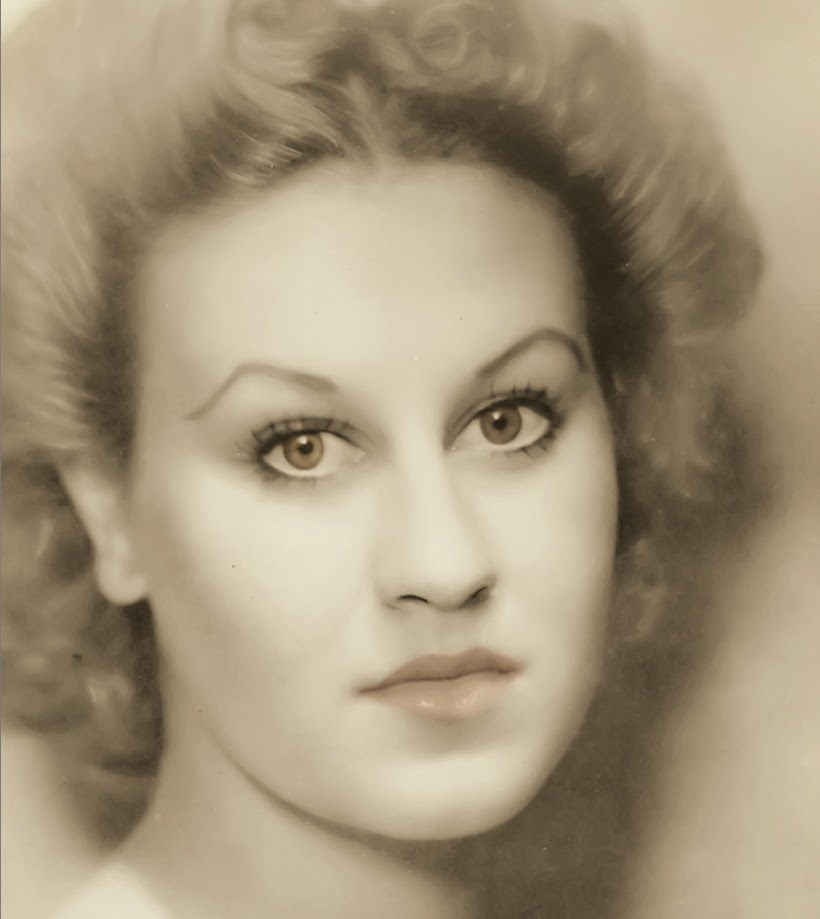 Portrait of Jean Morton, actress and TV presenter