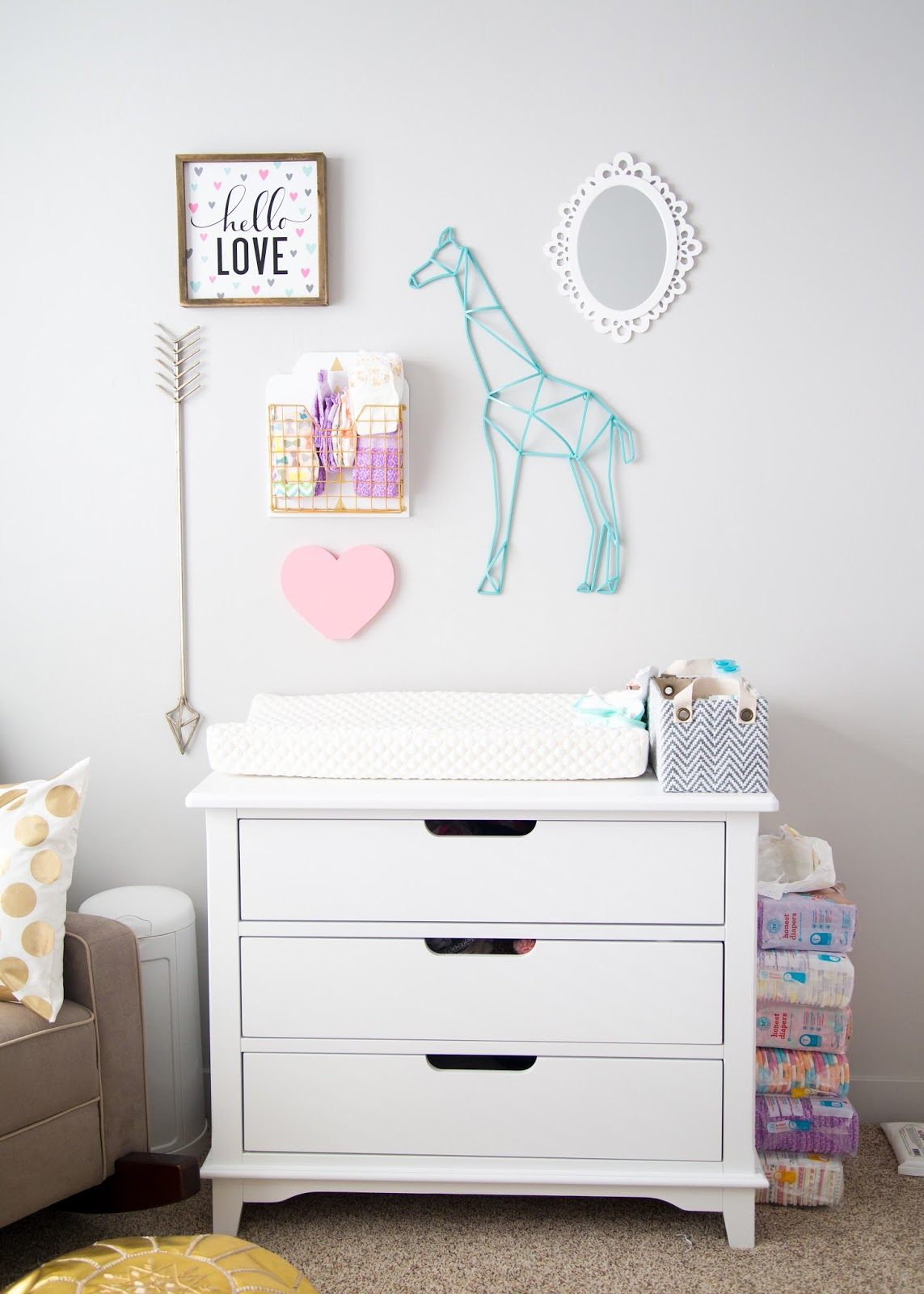 Changing Table Ideas, Nursery, Baby Girl Nursery
