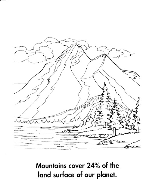 Mountain Landscape Coloring Pages  Google Search