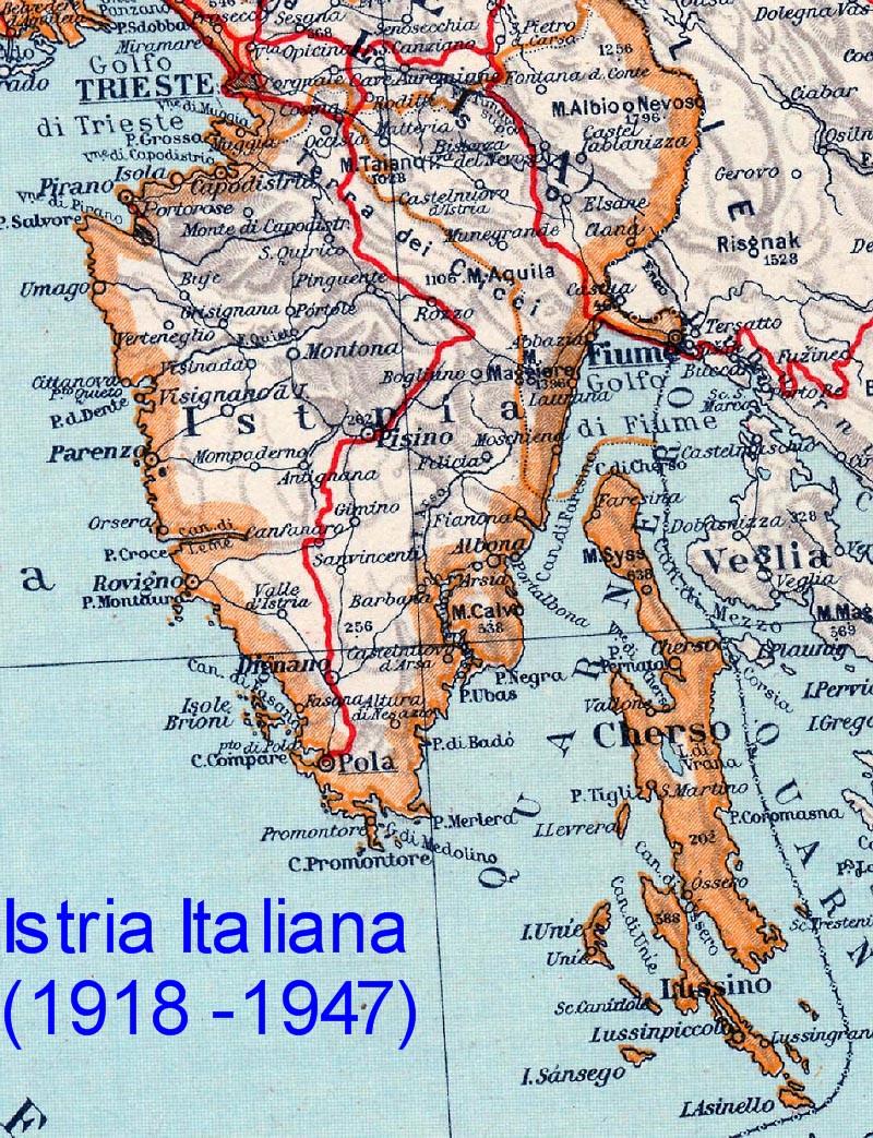 Kaart Topografie Zuid Europa Kaart Istrie