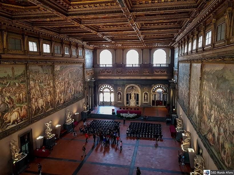 Sala dos Quinhentos no Palácio Vecchio - O que fazer em Florença, Itália - 40 atrativos