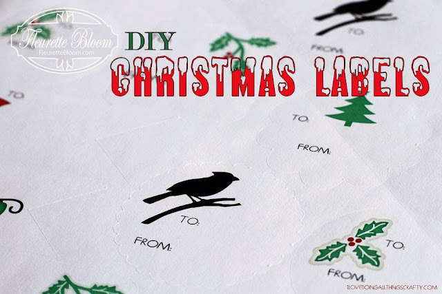DIY Christmas Labels on the Silhouette with Fleurette Bloom Designs | Ink On 3 Files