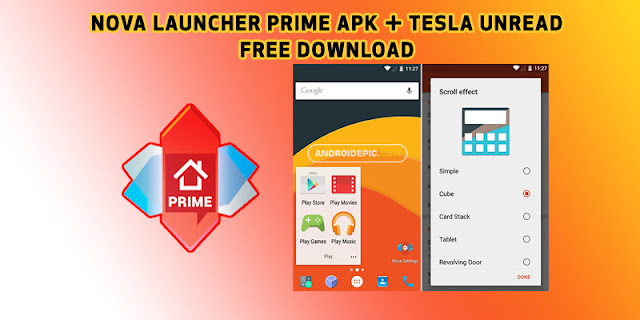 Free download nova launcher prime pro v.6.1.11 final version mod for android terbaru ukuran file kecil hanya 12 MB. Tersedia ribuan icon pack untuk nova launcher di playstore.