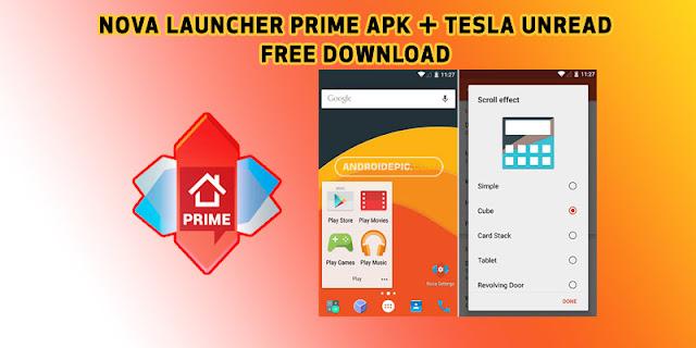 Free download nova launcher prime pro v.6.1.11 final version mod for android terbaru ukuran file kecil hanya 12 MB. Tersedia ribuan icon pack untuk nova launcher di playstore.