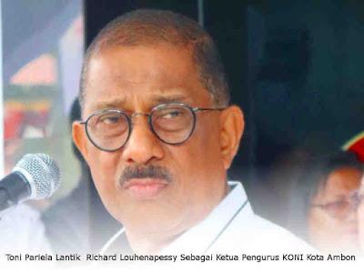 Toni Pariela Lantik Richard Louhenapessy Sebagai Ketua Pengurus KONI Kota Ambon