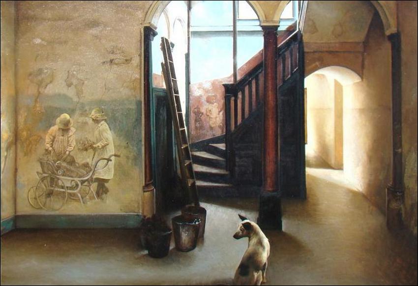 Cuadros pinturas oleos pinturas de interiores casas for Cuadros de interiores