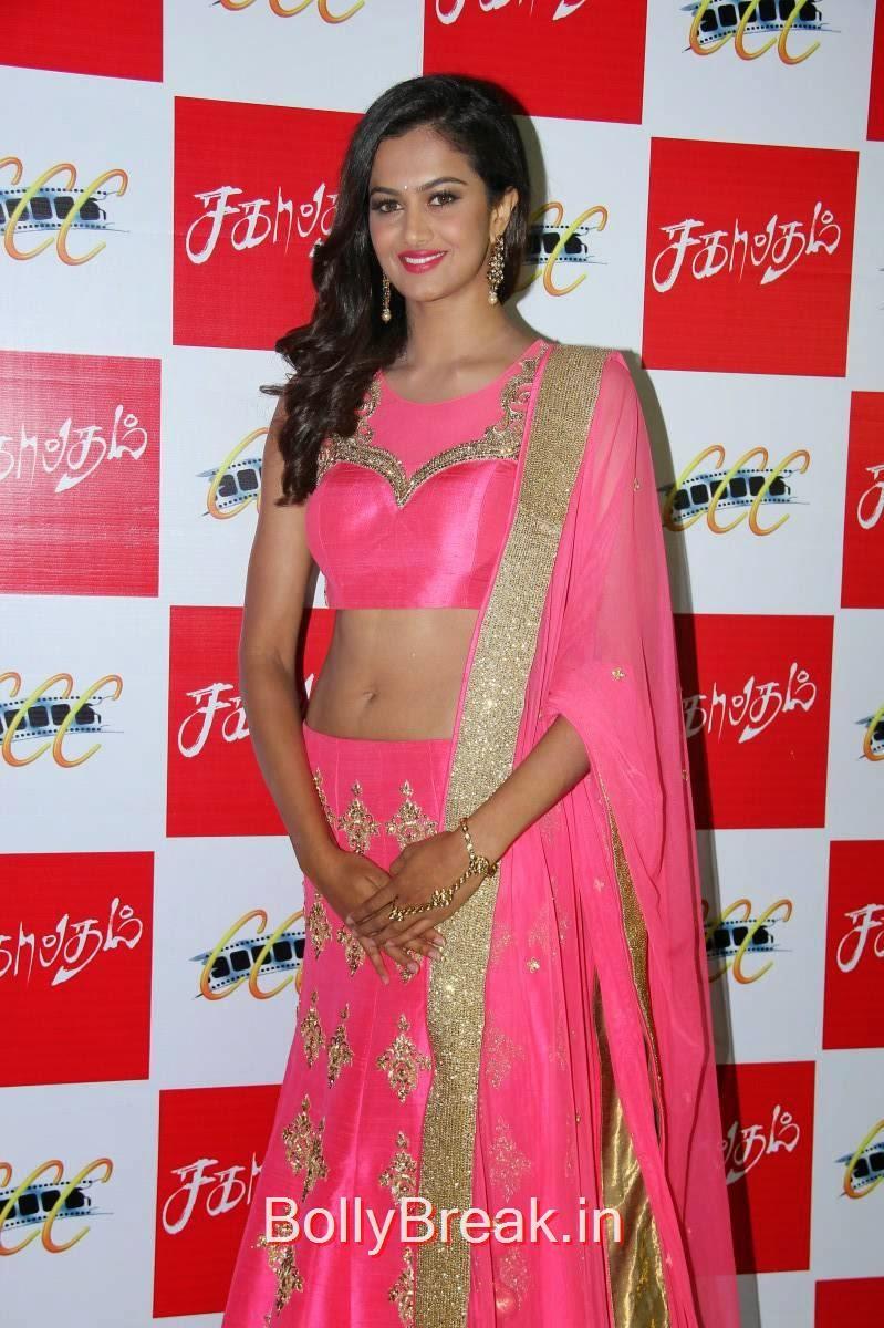 Shubra Aiyappa images, Shubra Aiyappa Latest Hot Pics In Pink Lehenga from Sagaptham Movie Audio Launch