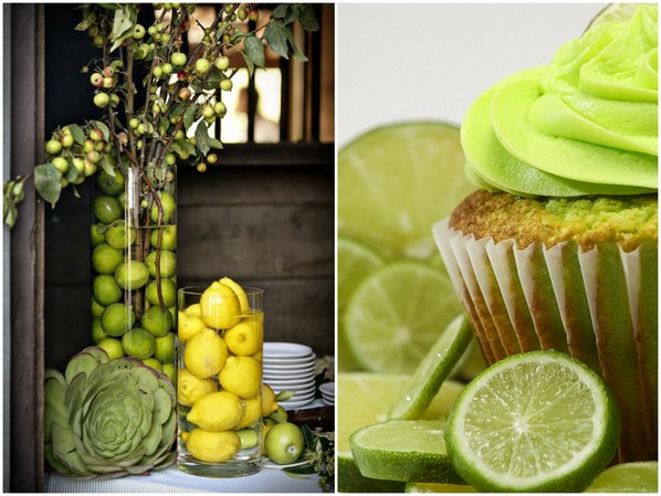 Limes and lemons don't have to be for cooking only - you can decorate with them too