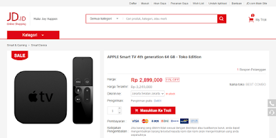 Harga Apple TV paling murah