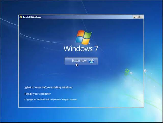 Cara install Windows 7 dengan Flashdisk tanpa kehilangan data 4