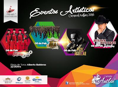 artistas carnaval autlán 2016