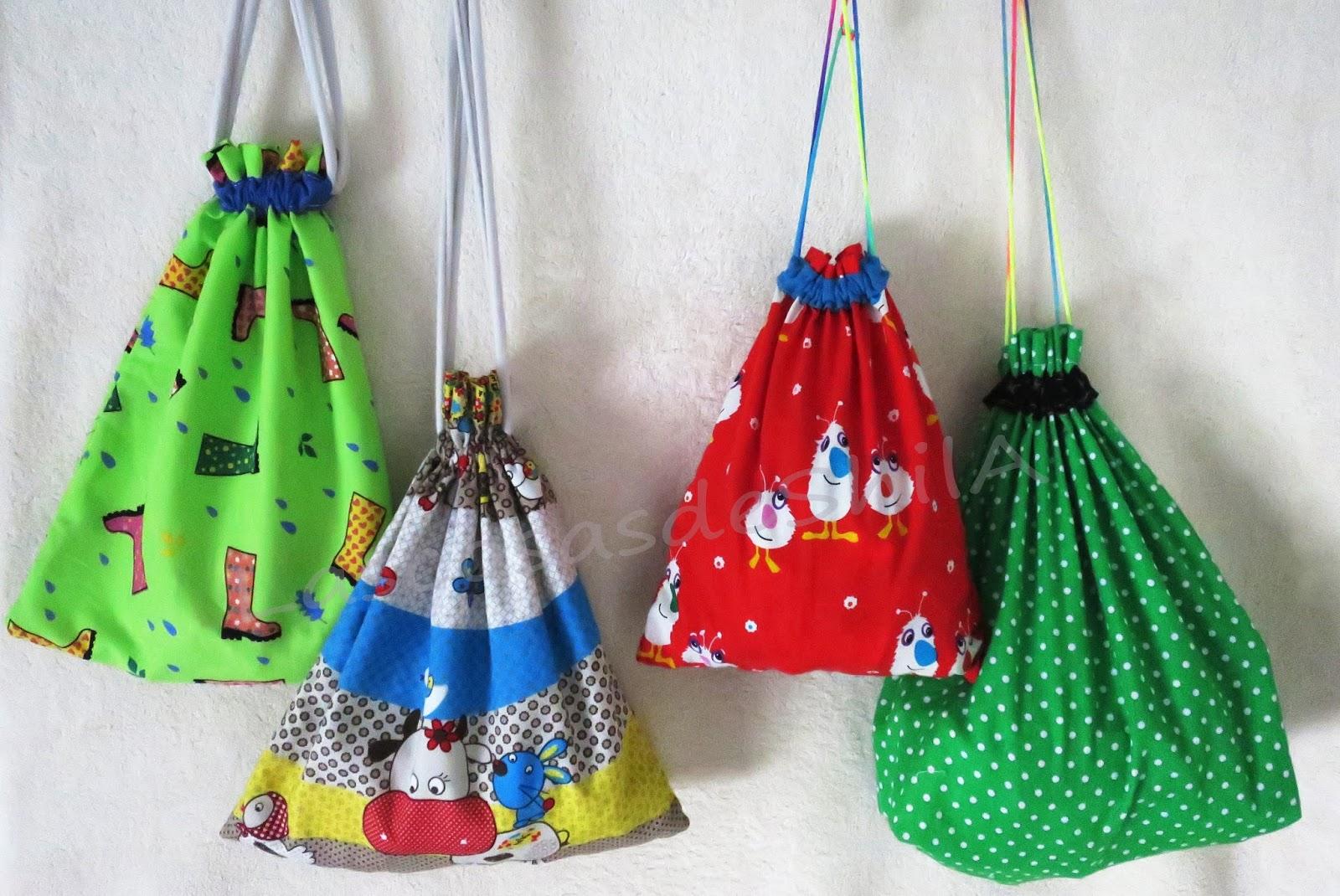 bolsas de tela para ninos