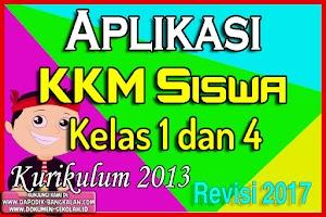 Aplikasi KKM Kelas 1 dan Kelas 4 Kurikulum 2013 Revisi 2017 Format Excell