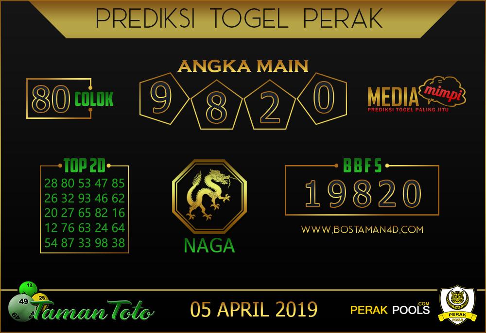 Prediksi Togel PERAK TAMAN TOTO 05 APRIL 2019