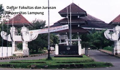 Daftar jurusan fakultas dan program studi diploma, sarjana, doktor  UNILA Universitas Lampung lengkap Terbaru