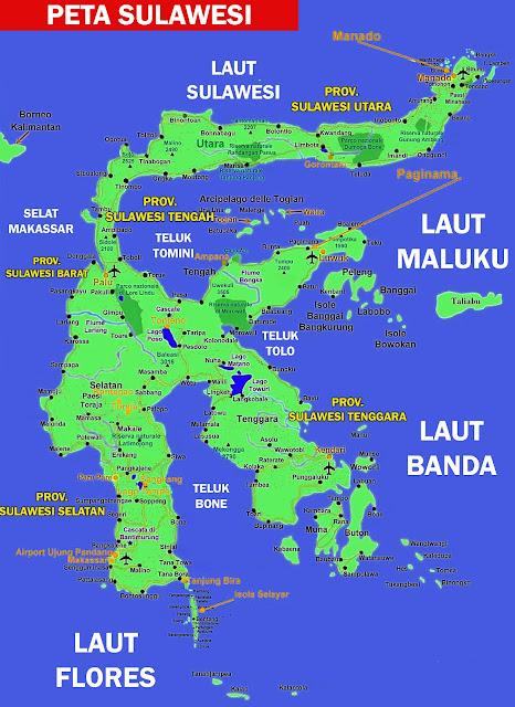 Gambar Peta Sulawesi HD