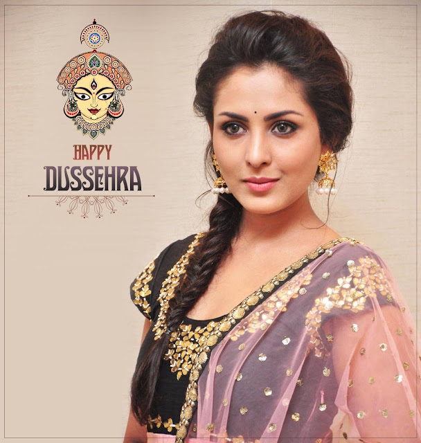 madhushalini wishing Happy Dussehra