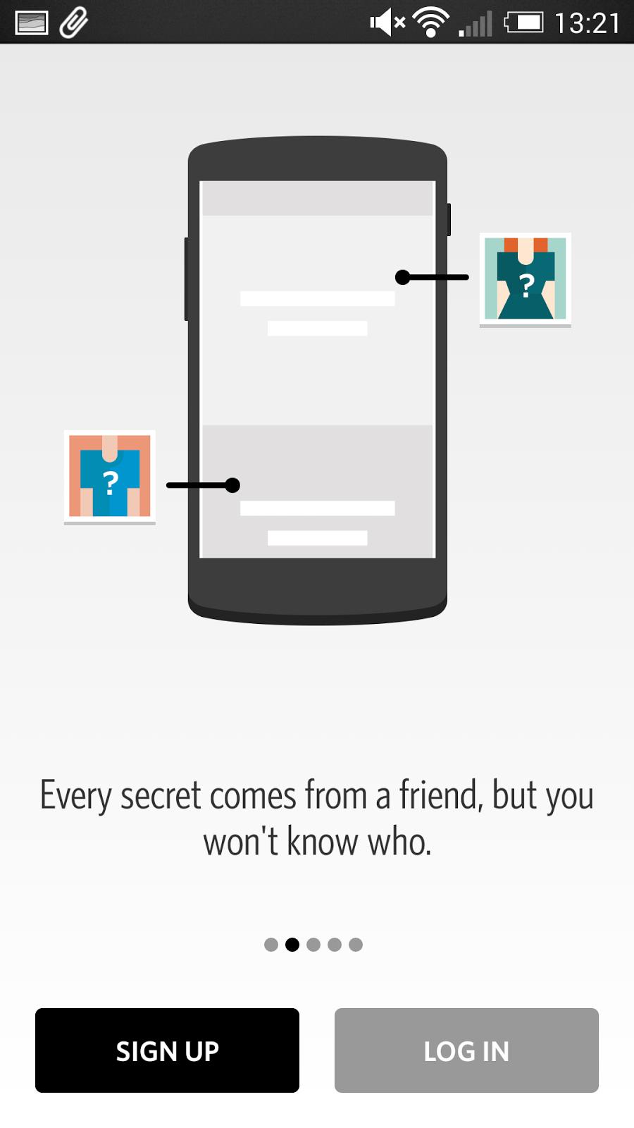 Secret 解除分享焦慮的社交 App ,對朋友匿名寫真心話 secret-01