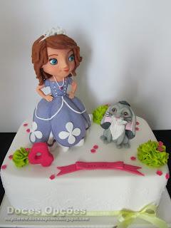 bolo princesa sofia  doces opções