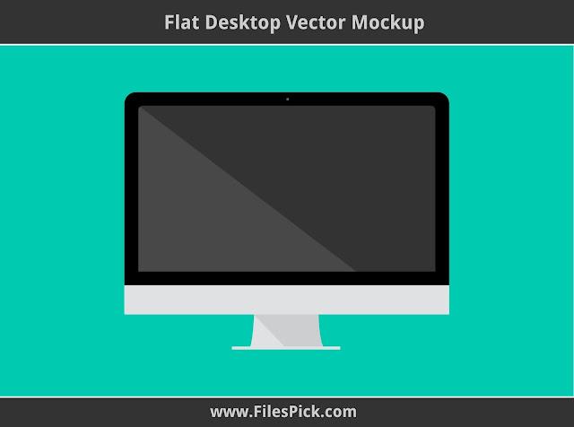 flat desktop mockup