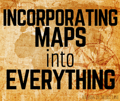 Prevent a cartophobic generation by including maps in everything you do in the classroom! The 2nd one is my favorite!