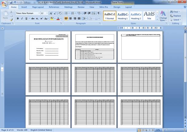File Pendidikan Contoh Format Manajemen Sarana Prasarana Paud Tk Ra Kb Lengkap