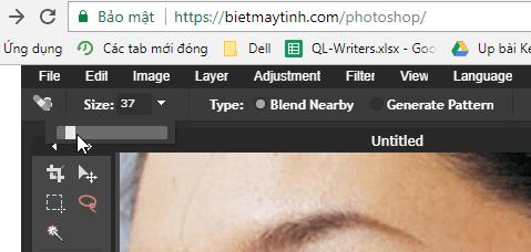 Cách dùng photoshop online để xóa mụn
