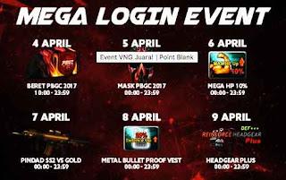 Event PB Garena 4 April 2018 VNG Juara Absen Harian, Login Spesial, Main 60 Menit dan 90 Menit, dan Bonus Exp