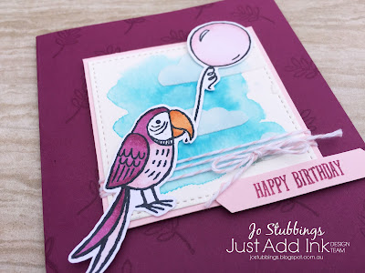 Jo's Stamping Spot - Just Add Ink Challenge #402 using Bird Banter by Stampin' Up!